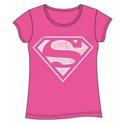 Camiseta Chica Superman Pink Xl