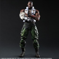Figura Play Arts Final Fantasy Vii Advent Children Barret 28 Cm