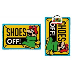 Felpudo nintendo mario shoes off 40 x 60