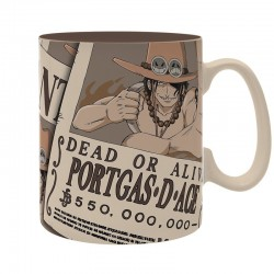 TAZA ONE PIECE WANTED ACE